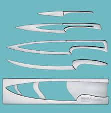 delong stainless steel knife set open in pop up window