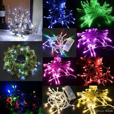 light and battery store two display modes multicolor 1m 10 led string light with battery box