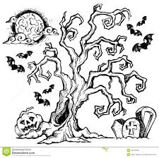 halloween theme drawing 4 stock vector image 44912188