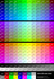 List Of Color File Xterm 256color Chart Svg Wikimedia Commons