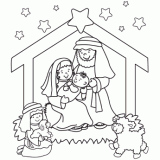 jesus in the manger coloring page christmas coloring pages free christmas coloring pages for kids