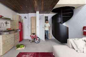 Floor Plan Spiral Staircase A Spiral Staircase Takes This Small Apartment To The Next Level