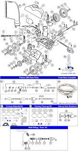 polaris 280 pool cleaner exploded parts diagram