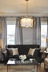 Gold Sofa Living Room by Glam Living Room By Jws Interiors Charcoal Gray Velvet Tufted Sofa