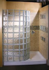 glass block bathroom ideas doorless shower design glass block showers doorless shower