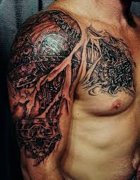 35 amazing bio mechanical tattoo designs examples mechanical