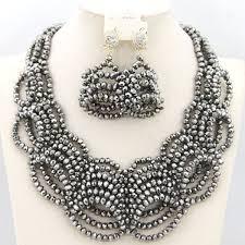 beads necklace handmade images Handmade african beads jewelry set bridal jewelry sets nigerian jpg