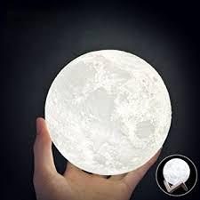 3d Lamps Amazon Huluwa Wch8141 Night Light 3d Printing Moon Lamp Lunar Usb