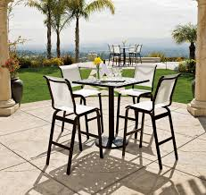 Patio Table With Chairs High Top Patio Table Set Material Option Sorrentos Bistro Home