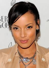 pic of black women side swept bangs and bun hairstyle easy hairstyles short sleek black hairstyle with side swept bangs
