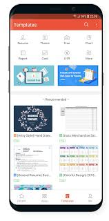 templates for wps office android wps office pdf v10 9 mod releaseapk