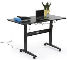 motorized sit stand desk electronic adjust desk 29 to 49 black tabletop