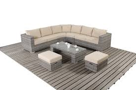 Outdoor Rattan Corner Sofa Rustic Gray Rattan Curved Corner Sofa Oxf Direct The Luxury