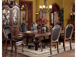 Formal Dining Room Sets With China Cabinet by Acme Furniture Chateau De Ville 7 Piece Formal Dining Set With
