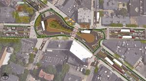 Hubway Map Inman Square Protected Roundabout Kittelson U0026 Associates Inc