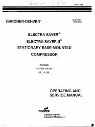 gardner denver electra saver ii gas compressor valve