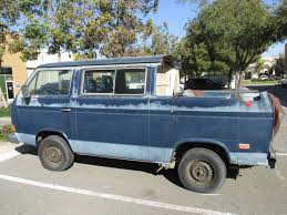 volkswagen vanagon blue free abandoned vanagon pickup conversion project