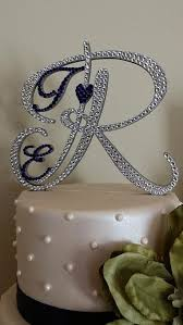 monogram cake toppers wedding cake toppers bridal accessories wedding decor