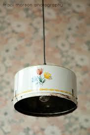 Vintage Kitchen Light Fixtures Vintage Tin Pan Kitchen Light Fixture