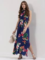 maxi dresses online buy tropical print maxi dress for women women s print maxi