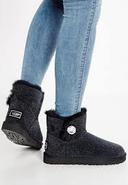 ugg womens mini bailey button sale uggs sparkle boot ugg mini bailey button bling serein ankle