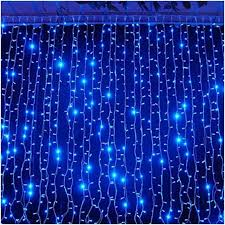 blue christmas lights christmas window lights decorations indoor led curtain lights
