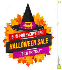 halloween sale logo or label stock vector image 77078904