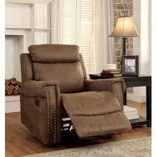 furniture of america modern simple 3pc reclining sofa set brown