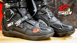 trail bike boots sidi crossfire 3 srs motocross boot review youtube
