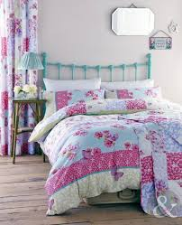 just contempo patchwork chic duvet cover set king blue amazon