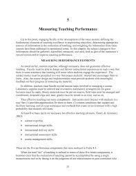 Job Resume Of Teacher by 5 Measuring Teaching Performance Developing Metrics For