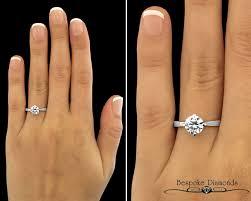 1 carat engagement rings sr1045 1 carat brilliant solitaire ring