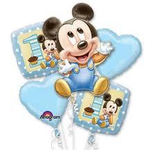 mickey mouse 1st birthday boy mickey mouse 1st birthday boy 5 mylar balloon bouquet set