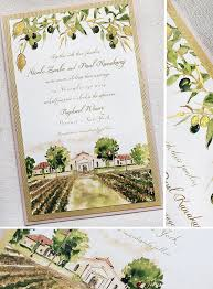vineyard wedding invitations z watercolor vineyard wedding invitations vineyard