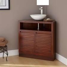 Fairmont Designs Rustic Chic  Corner Vanity  Sink Set - Corner sink bathroom cabinet