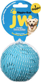 jw pet giggler ball squeaky dog toy color varies large chewy com