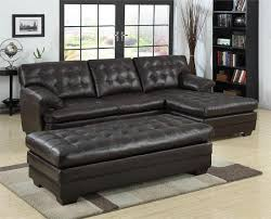 Sectional With Ottoman Brown Leather Sectional 9739 Homelegance