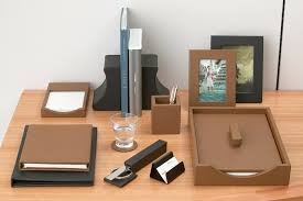 Accessories For Office Desk Attractive Leather Desk Accessories All Office Desk Design