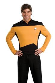 Halloween Shirt Costumes Amazon Com Star Trek The Next Generation Deluxe Shirt Costume