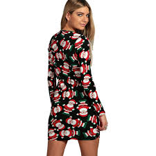 feitong autumn women christmas party dress ladies long sleeve