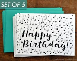 music birthday card music note cupcake card music note