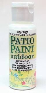 decoart medium patio paint outdoor clear coat 2fl oz country