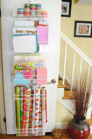 how to store wrapping paper and gift bags 48 best wrapping paper storage images on organization