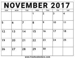 free blank printable november 2017 calendar templates pdf