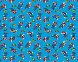 mario wrapping paper mario fabric etsy