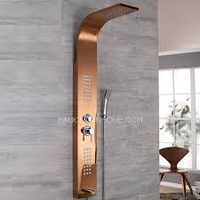 Stainless Steel Bathroom Faucets by Modern Wall Mount Stainless Steel Rose Gold Shower Faucet