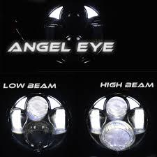 amazon com ausi 5 3 4 5 75 inch dual led headlight round