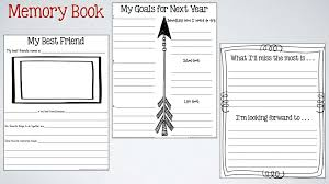 end of the year memory book activities what i learned