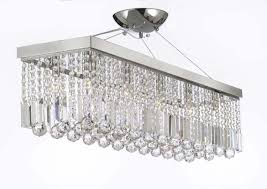 Rectangle Chandeliers 10 Light 40 Contemporary Chandelier Rectangular