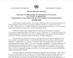 letter from un secretary general to high level panel u2014 high level